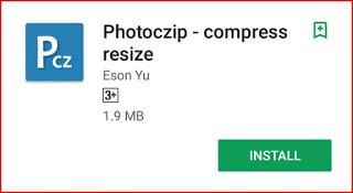 Photoczip app in playstore