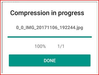 Compression process is done