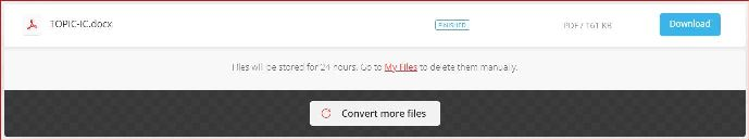 Conversion completed Download your converted file.