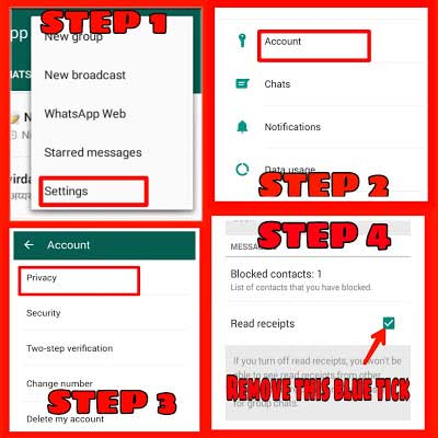 Disable Whatsapp Read Receipts feature