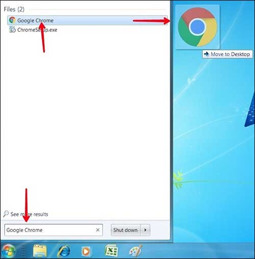 move apps and folder to desktop screen