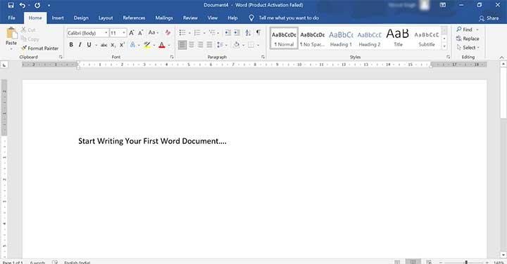 Create MS Word Document Step 2