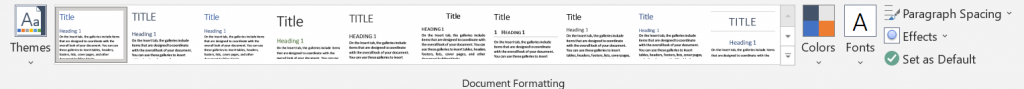designtab documentformatting screenshot
