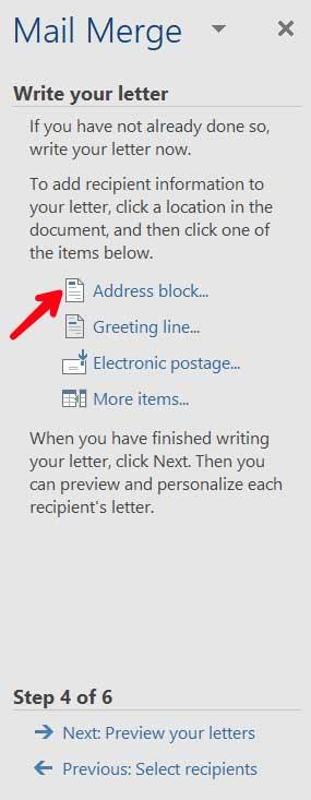 click-addressblock