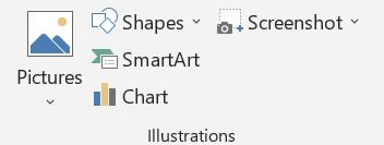 Insert Tab Illustrations Group