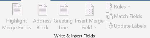 Mailingstab Writeandinsertfields