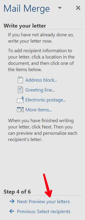 Click-previewyourletters