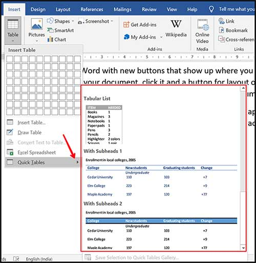 create-table-using-quick-table-method4