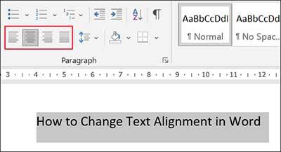 Change-text-alignment